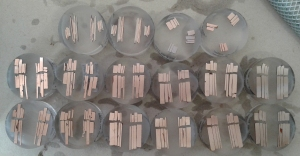Polishing a few alloy samples